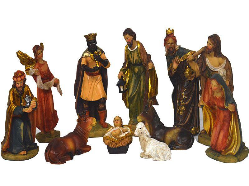 Set de 11 piezas figuras de belén 14.5 cm