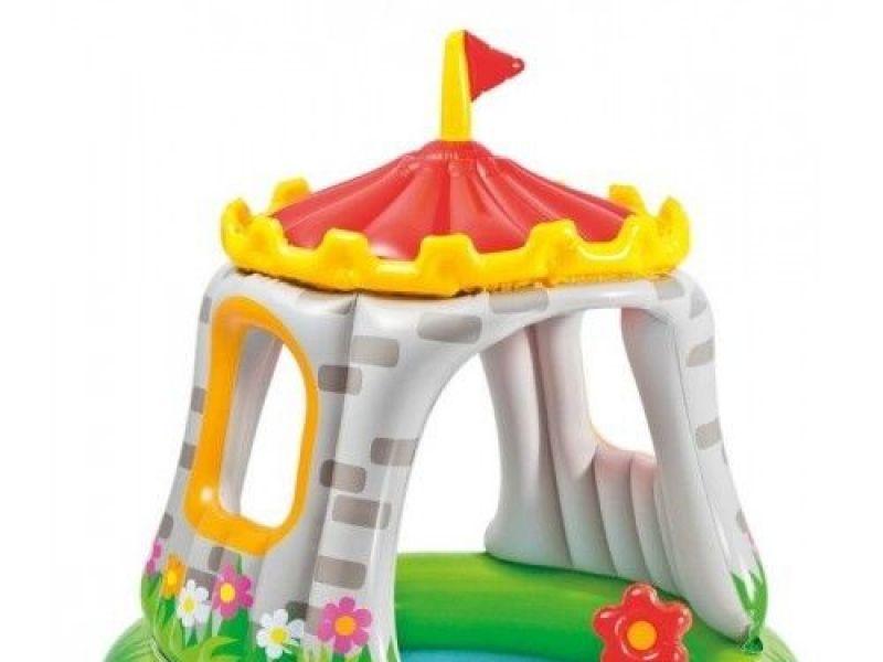 Piscina hinchable para bebe con cúpula de castillo para protección del sol diámetro de 122 cm x 122 cm