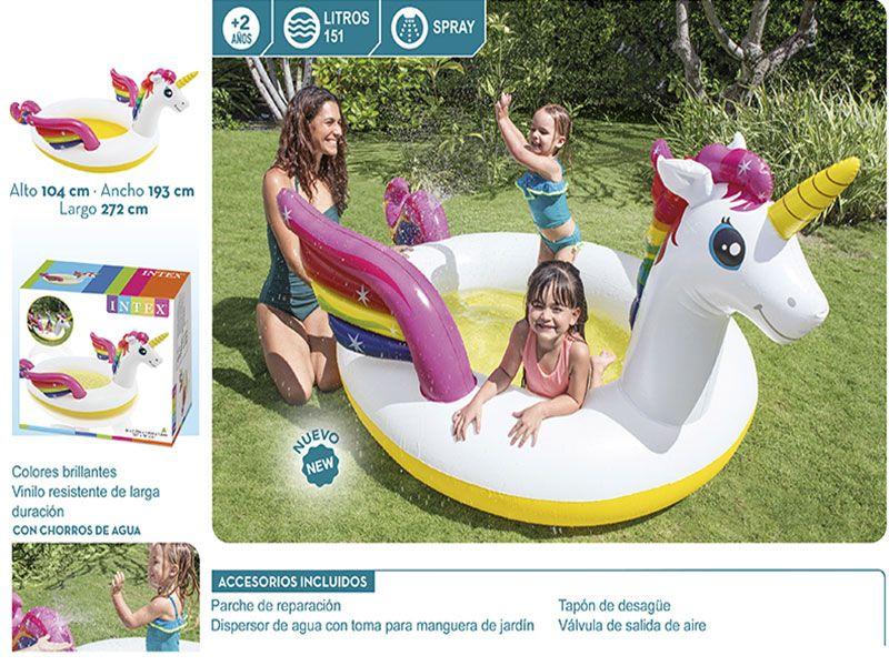 Piscina spray unicornio 151 lts 104x193x272 Centímetros