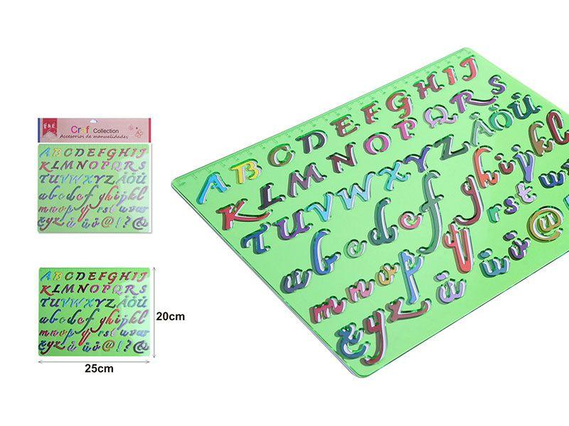 Plantillas de manualidades para escribir letras