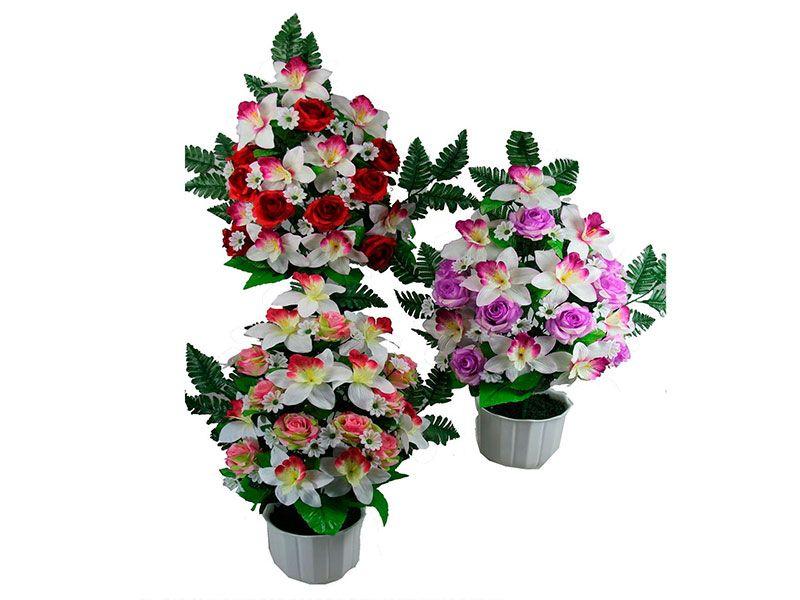 Ramo liso de 18 rosas y orquídeas 3 colores