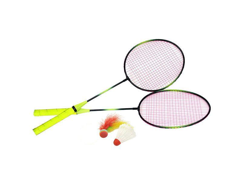 Set 2 raquetas badminton y volante