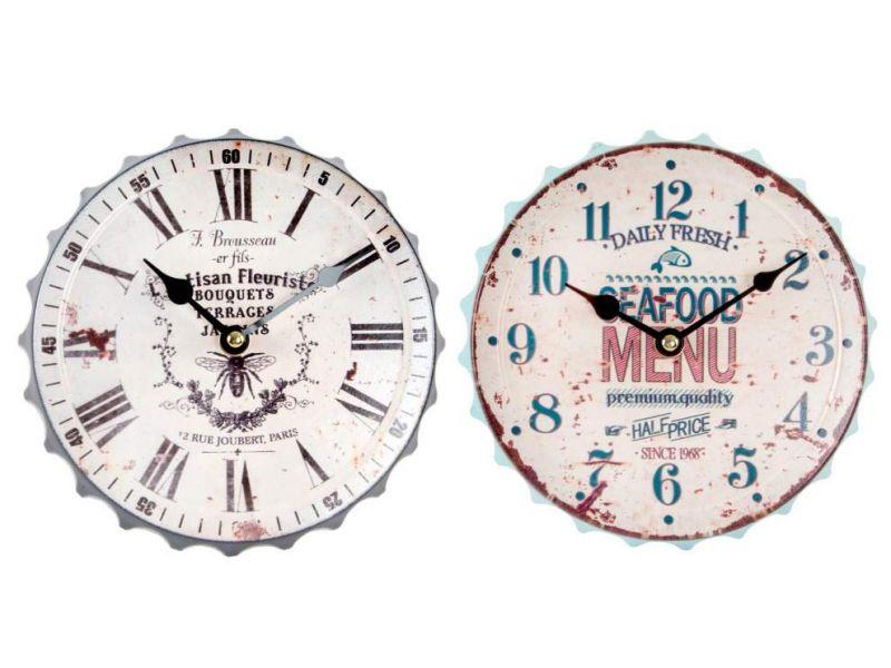 d32e9c8ca Reloj de pared de metal con diseño de chapa 2 modelos distintos