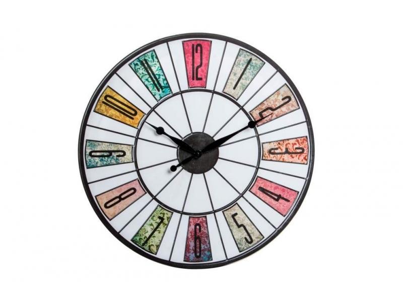 Reloj de Pared Lienzo Envejecido