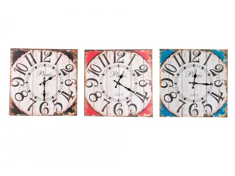 Reloj de Pared de Madera Envejecido
