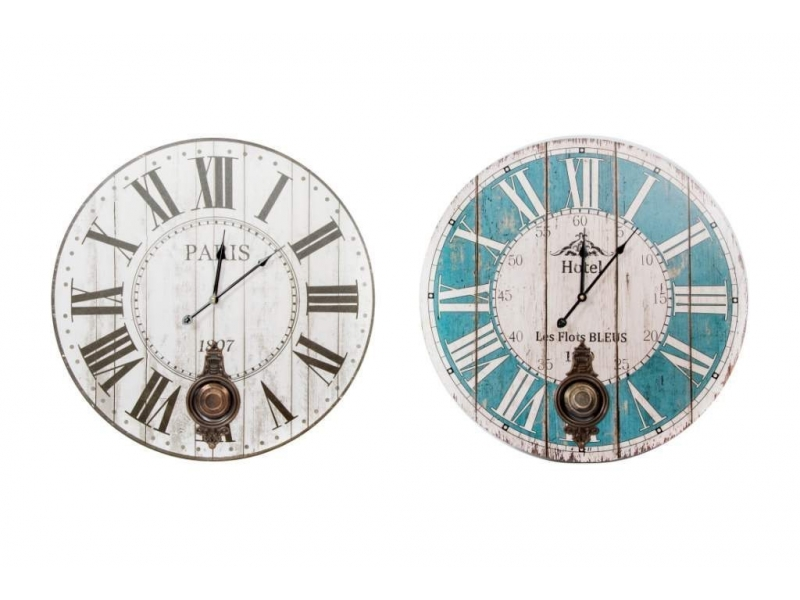 Reloj de Pared de Madera Péndulo 58 Cm