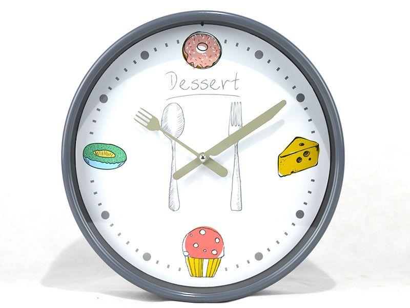 Reloj de pared redondo de pvc 3 modelos diferentes con dise o relacionado con la cocina para - Reloj de pared para cocina ...