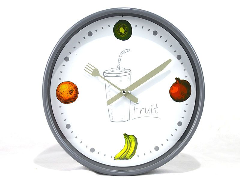 Reloj de pared redondo de pvc 3 modelos diferentes con diseño relacionado  con la cocina para elegir uno