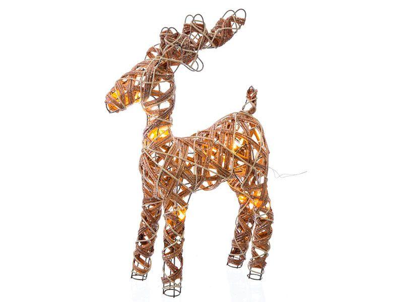 Ciervo de Navidad nórdico marrón de led para decoración navideña Christmas