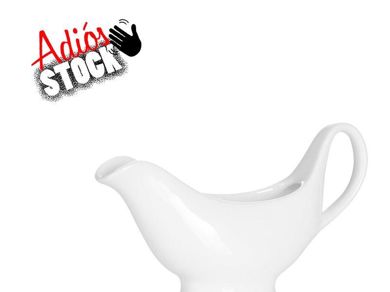 Salsera de Cerámica Blanca Stonewear