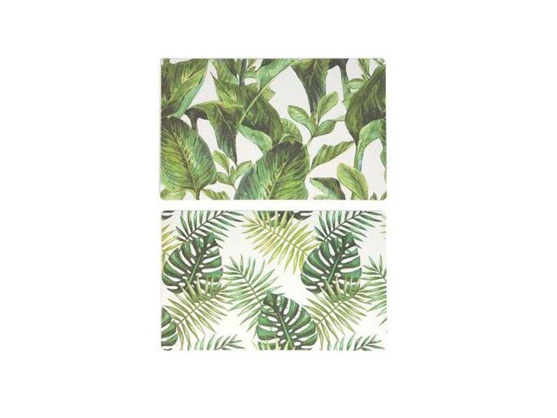 Salvamantel fondo blanco con ramas y hojas varios modelos 28X0,01X43 cm
