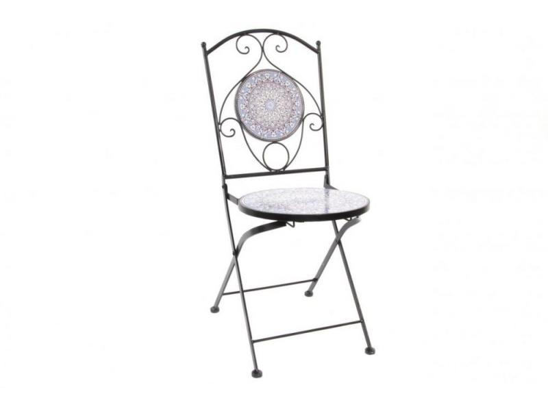 Set 2 sillas forjadas para terraza con decoracion etnico azul for Set terraza infantil