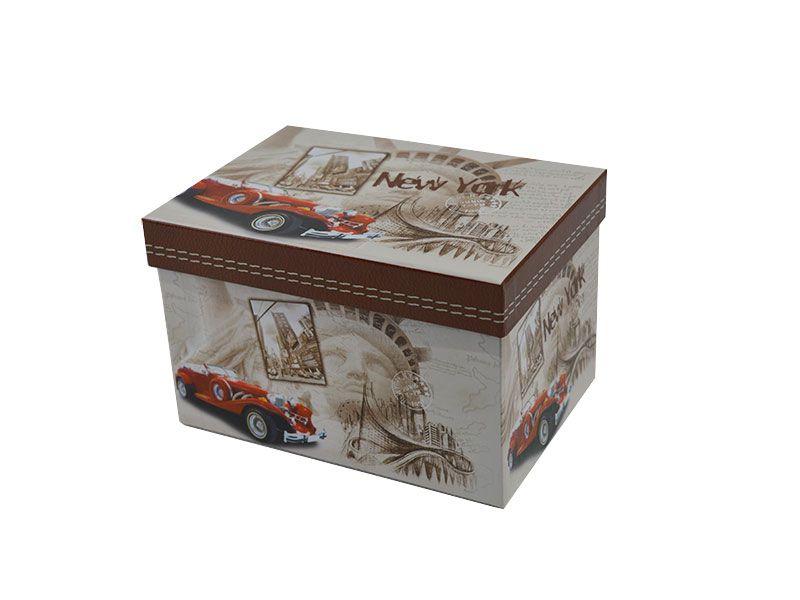 Set de 3 caja de cart n para regalos decoradas con taxis - Cajas de carton decoradas para regalos ...