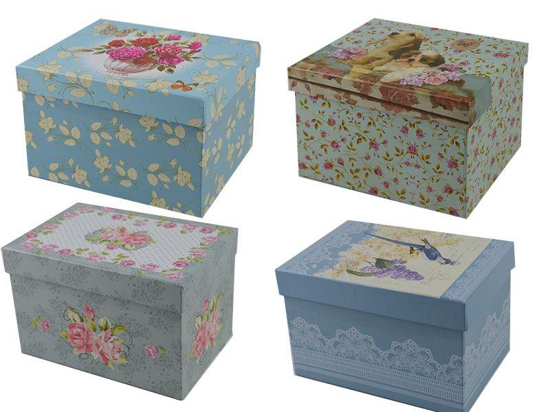 Comprar cajas de cart n decoradas baratas para organizar - Cajas grandes de carton decoradas ...