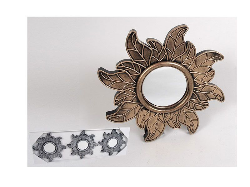 Set de 3 espejos Otoño oro/plata