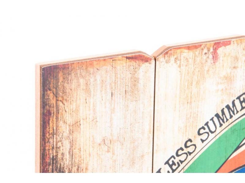 Set de 4 cuadros madera vintage 40x60x2 - Cuadros vintage madera ...