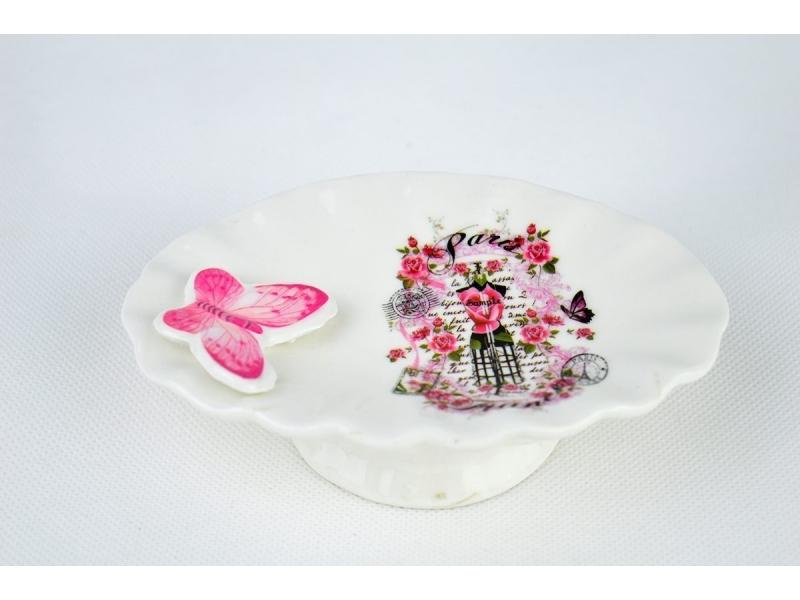 Set de baño 3 Piezas con Mariposas dosificador 6fec50b26fda