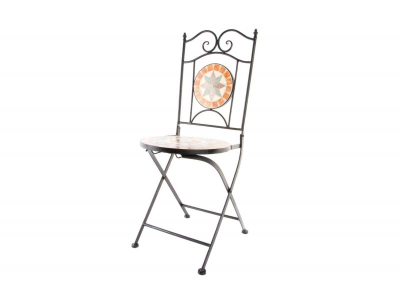 Set de 2 sillas met licas con decoraci n sobre m rmol - Puertas metalicas valentin ...