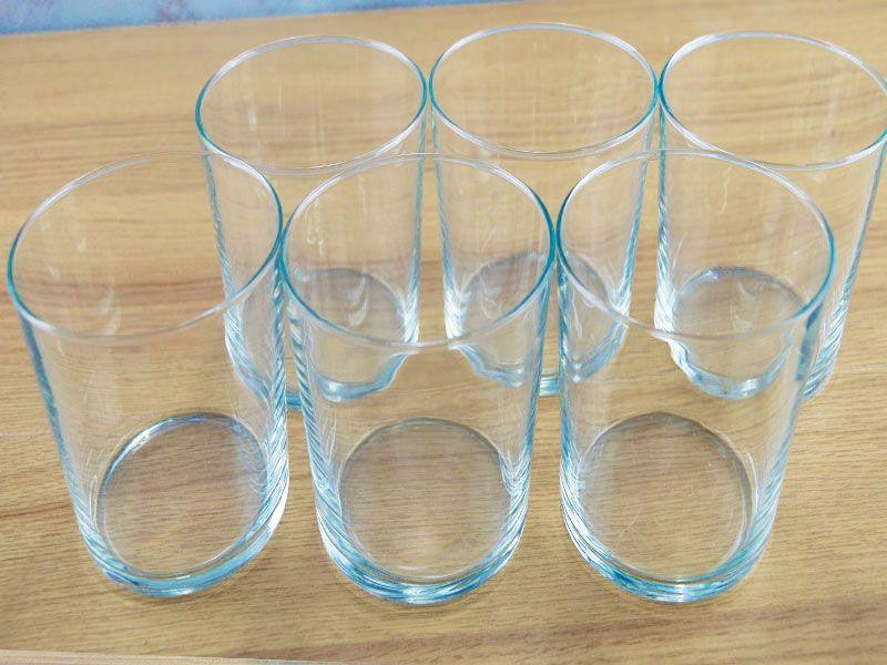 Set de 6 vasos de cristal para sidra