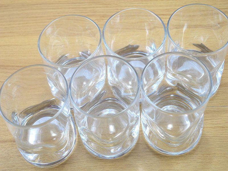 Set de 6 vasos whisky amassadinho de cristal 250 ml