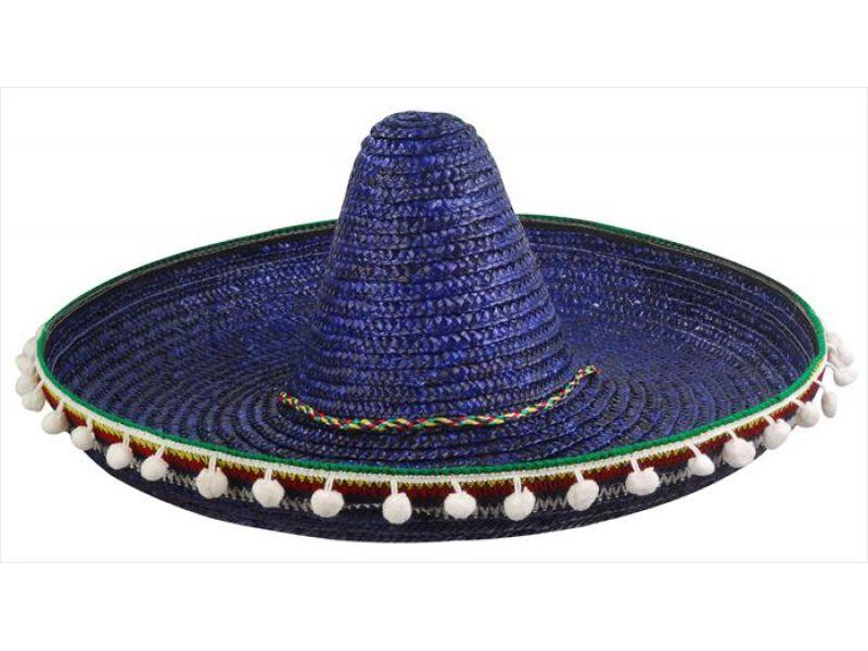 5d22f84448030 comprar sombrero mejicano azul