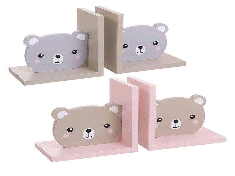Set de 2 Sujeta libros en forma de osos 15X10X15 cm