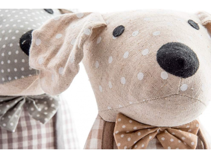Sujeta puertas de tela de perros con cuadros for Sujeta puertas de tela