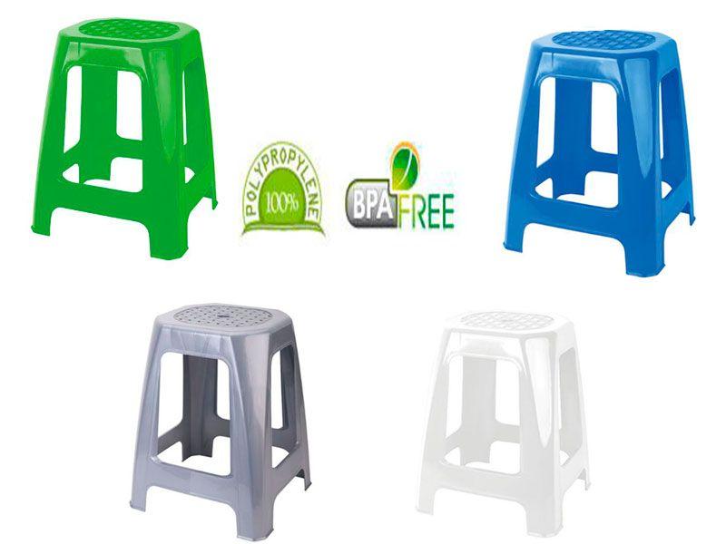 Taburete multiusos rectangular alto de 46 cm de altura  y en 4 colores disponibles para elegir uno
