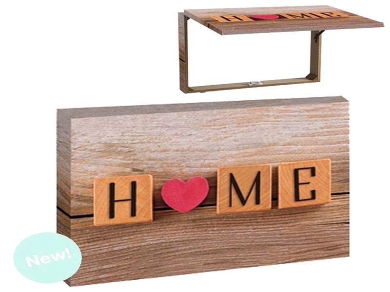Tapa decorativa para contador de luz HOME con corazón 46x7x32 centímetros