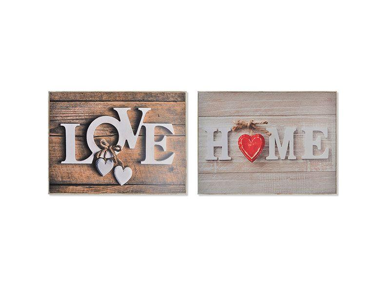 Tapa contador madera love home 46x32x7 Centímetros