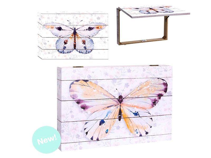Tapa de contador mariposa 2 colores 46X7X32