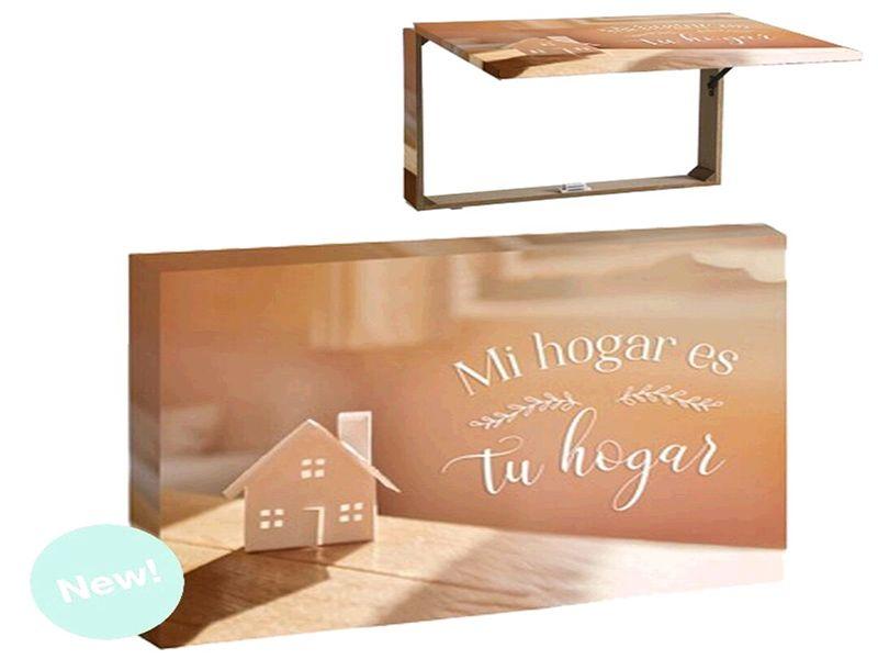 Tapa decorativa para contador de luz con la frase ''mi hogar es tu hogar'' 46x7x32 centímetros