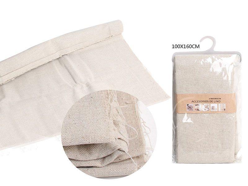 Auténtico Eco-Lino 100 cm x 150 cm Básico color blanco perla claro para manualidades punto de cruz o para confeccionar cualquier prenda