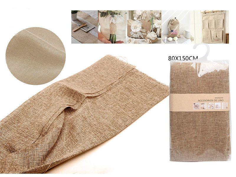 Auténtico Eco-Lino 80 cm x 150 cm Básico color caqui para manualidades punto de cruz o para confeccionar cualquier prenda