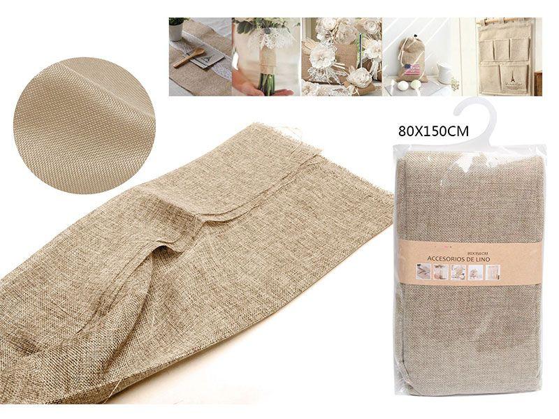 Auténtico Eco-Lino 80 cm x 150 cm Básico color caqui oscuro para manualidades punto de cruz o para confeccionar cualquier prenda