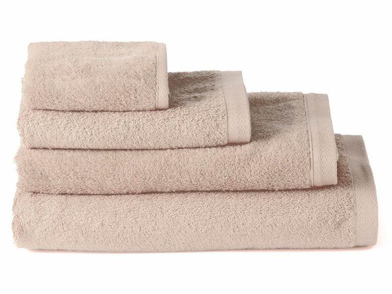 Toallas de Algodón para Baño Beige 100×150