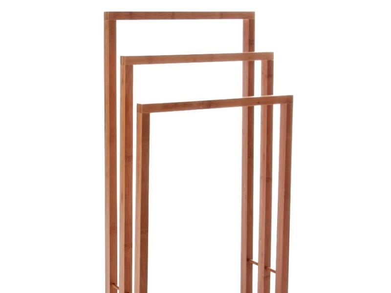 Toallero de Bambú con 3 Brazos