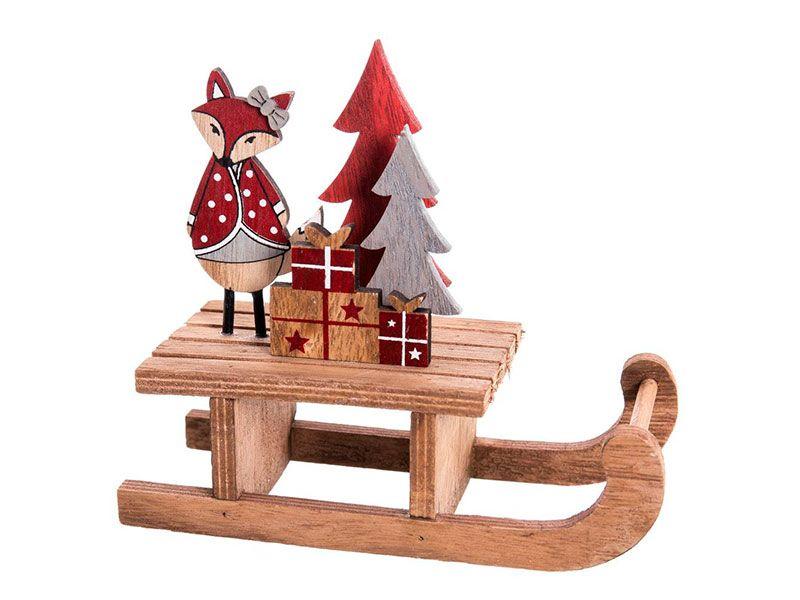 Calcet n para regalos papa noel o santa claus disponibles for Trineo madera decoracion