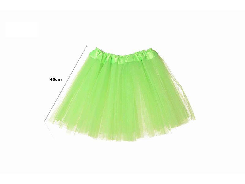 97c28c2de Tutu para adolescentes o adultos con tres capas de tul de color pistacho  liso y 40 cm de largo y hasta 52 cm de diámetro