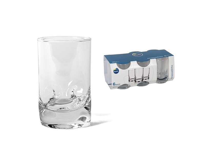 Set de 6 Vasos de agua amassadinho 24 cl