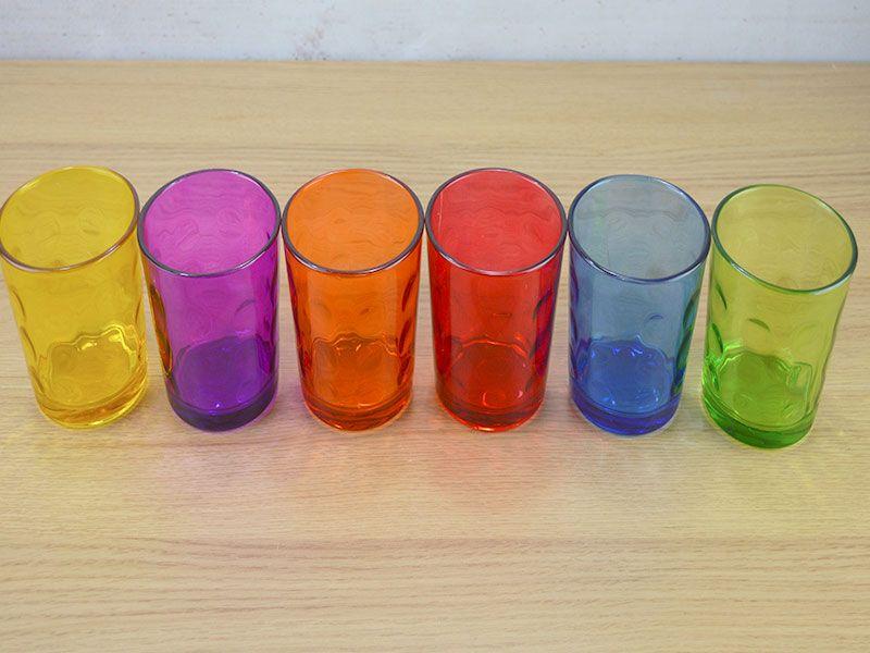 Grandes ofertas en muchos productos set de 6 vasos de for Vasos cristal colores
