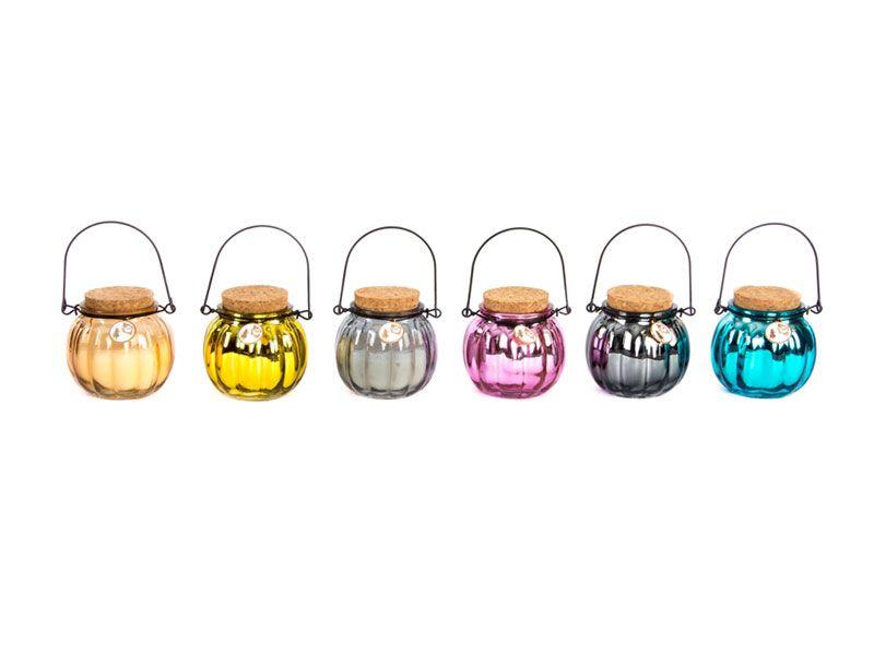 Velas de cristal redondas perfumadas 8x8 Centímetros