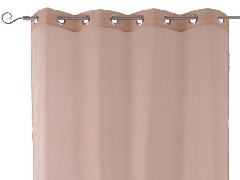 Visillos con anillas beige for Visillos confeccionados