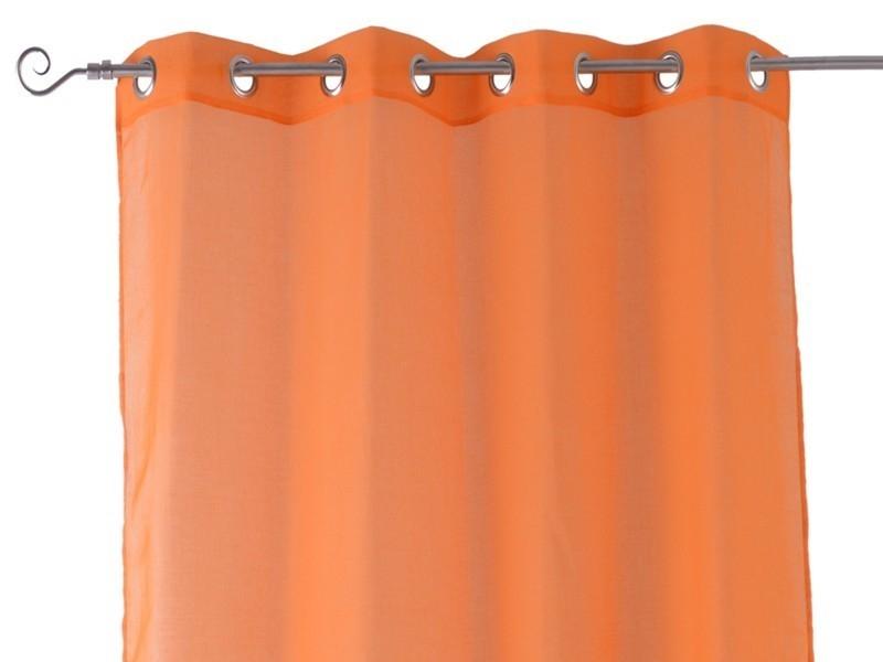 Visillos con Anillas Naranja