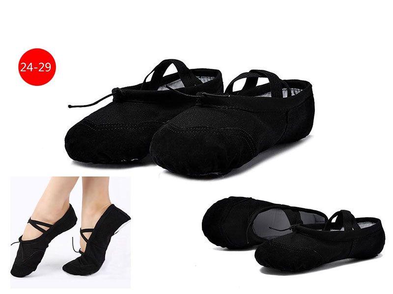 Zapatilla ballet negro adulta talla 24 a 29